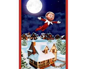 Elf on a Shelf Fabric From Quilting Treasures By the Panel