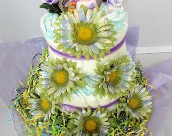 2-tier Diaper Cake