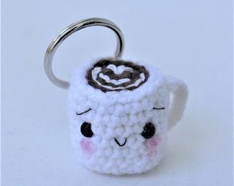 Coffee Cup Amigurumi Keychain