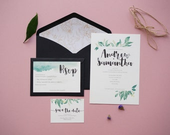 Wedding invitation - Viridescent Bloom
