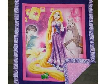 The Tangled/ Rapunzel Minky Blanket