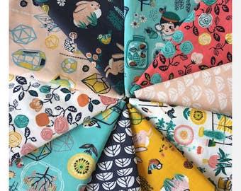 HIDDEN GARDEN by Birch - 10PCE Bundle - ORGANIC Cotton Poplin Fabric