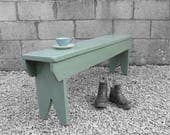 Rustic Bench Seat Traditional Painted Green Garden Hall