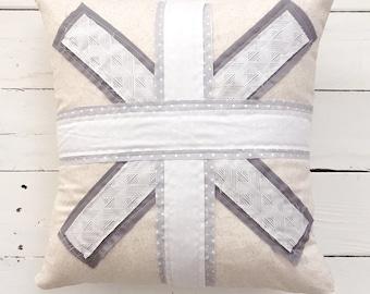 Farmhouse Union Jack throw pillow