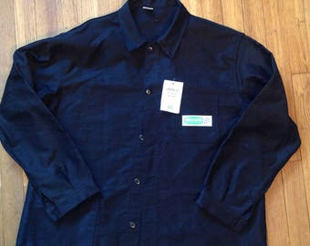 Vintage black Moleskine work jacket plus size