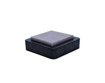 "Proops 2 in 1 3"" Steel Bench Block with Rubber Base Anvil, Jewellers, Flatten Metals (J1261). Free UK Postage"