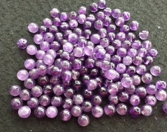Vintage Amethyst 6mm Rounds