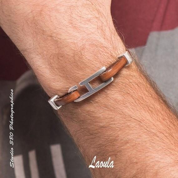 Bracelet cuir homme marron chic – 33,00€