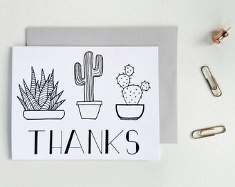 Cactus Thank You Card, Wedding Thank You Card, Birthday Thank You Card,  Business Thank You Card, Unique Thank You Card, Thank You Gift