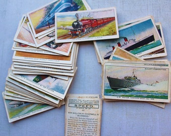Full set of 50, Speed, Wills Picture cards, cigarette cards