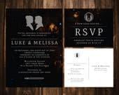 Star Wars Wedding Invitations; Printable OR set of 25