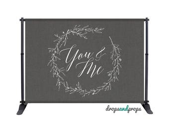You + Me Gray - Photography Backdrop