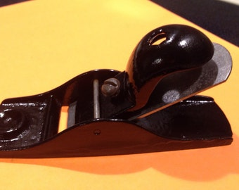 """Vintage, cast iron and steel, """"Squirrel tail"""" block plane"""