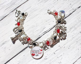 "Twilight Inspired ""And So The Lion Fell In Love With The Lamb"" Charm Bracelet"