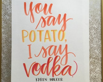 Wall art - Will & Grace (Karen Walker) - 11x14, funny, home art