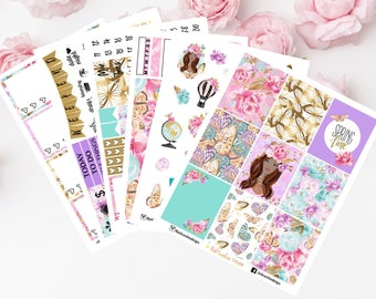 SPRING TIME KIT Dark Skin Stickers for your Planner