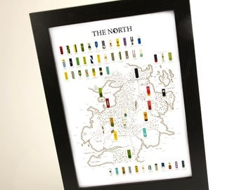 Game of Thrones – The North A3 print