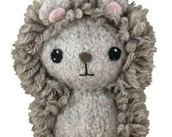 Hedgehog Felted Knitting Kit - Forest Animals - Felted Animals - Amigurumi Pattern - Felted Animal - Felting Kits - Felting Kit