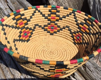 Southwest Indian Basket Coiled tightly woven