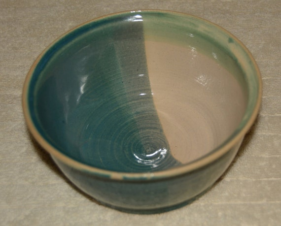 Bowl, Cereal Bowl, Ice Cream Bowl, Pet Bowl, Ceramic Bowl, Stoneware, Green, Off White, Turquoise, Dog Bowl, Cat Bowl,