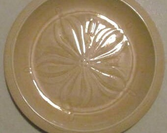 1970's Sea Sculptures Sand (Sanddollar) by Franciscan Design Stoneware Luncheon Plate or Display