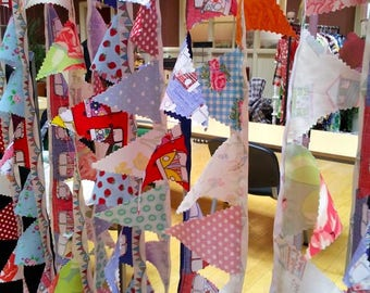 Beautiful mini bunting for home, car, camper van, garden!