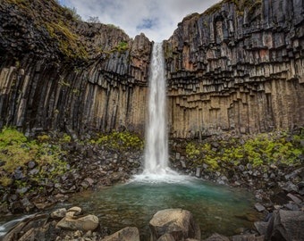 Fine Art Photography, Iceland, Waterfall, Svartifoss