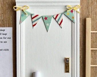Fairy Door, tooth fairy, tooth fairy door, baby shower gift, children decor, nursery decor, wood toy, banner