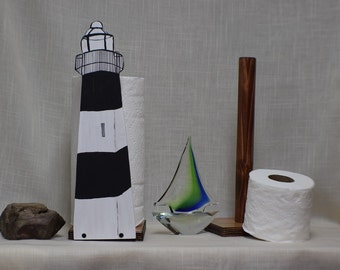 fire island lighthouse inspired this sturdy toilet paper holder extra storage