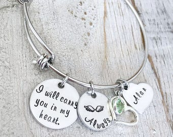 Remembrance Jewelry Gift - Sympathy Gift Idea - Memorial Bracelet - Bereavement Gift - Mother's Memorial Jewelry -  Loss of a Parent