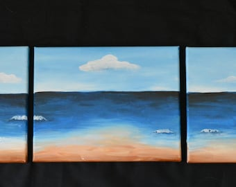 Set of 3 Beach Scene