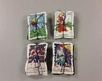 "You Choose - Lavender Sachets Bundles. 3 Cartas Marcades per set. 3"" x 4"". Filled with Organic Lavender."