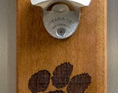 Magnet Bottle Opener with Magnet Cap Catch - Clemson