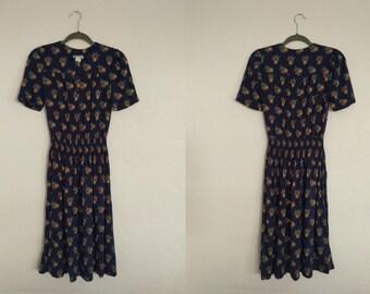 Taurus II Floral Print Dress (4P). Taurus II Dress. Floral Print Dress. Vintage Dress. Vintage Floral Print.