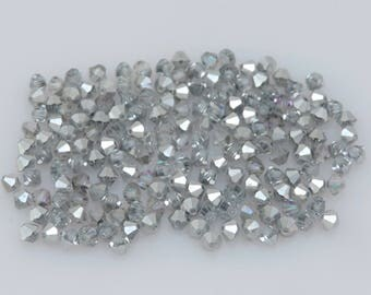 200x SWAROVSKI®  5301/5328 Comet Argent Light 4mm Bicone Beads,  ***Less Than 5 Cents Each!***