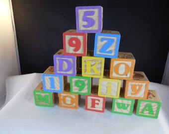 Vintage wooden blocks like used in the 1960s.