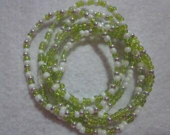 Green & white Bracelet Bundle