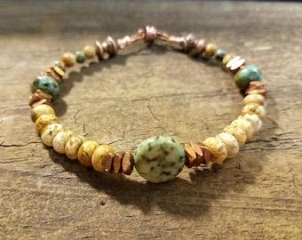 Boho Bracelet, Ethnic Bracelet, Beach Bracelet, Handmade Bracelet, Beaded Bracelet