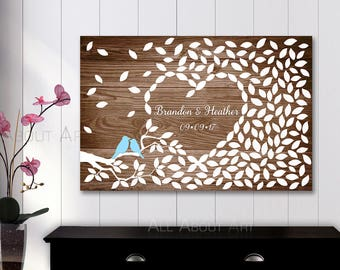 Wedding Guest book Poster - Alternative Guestbook Wood - Wood Wedding tree Guest book - Wood sign in - Wood guest book -Gifts for the couple
