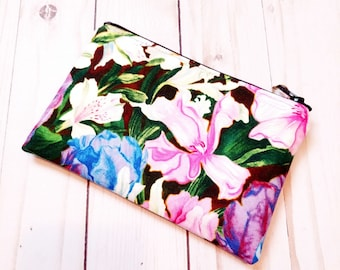 Floral Small Zipper Pouch