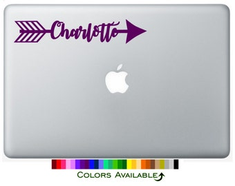 Arrow Name Personalized Laptop Decal