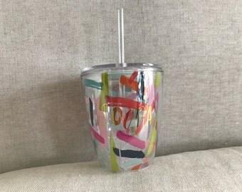 Customizable 10oz Confetti Insulated wine Tumbler