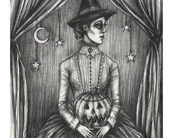 Samhain Witch- Print 5x7