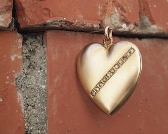 Heart Locket Large Gold Bridal Jewelry