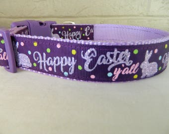 Happy Easter Y'All Dog Collar