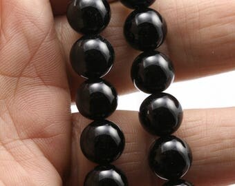 Round Onyx Beads, Black Onyx , 10mm Onyx Beads, Gemstone Beads, Semiprecious Stones, Jewelry Design, Wholesale Beads B100