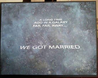Galaxy Anniversary Card, We Got Married Eons Ago Anniversary Card, Time Warp Anniversary Card