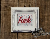 Small swear F*ck Embroidery Frame.