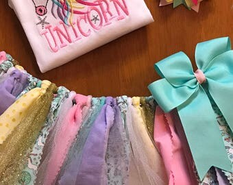 Sorry Can't Have To Walk My Unicorn Scrap Fabric Tutu Outfit