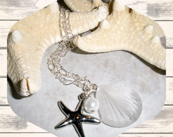 Bridesmaid Starfish Necklaces, Wedding Jewelry, Bridemaids Jewelry, Ocean Themed Wedding, Beach Bridemaids Necklaces, Bridemaids Gift